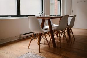 Połączenie salonu i jadalni